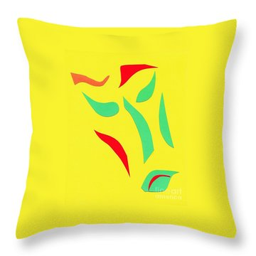 Throw Pillow featuring the mixed media The Mask by Delin Colon