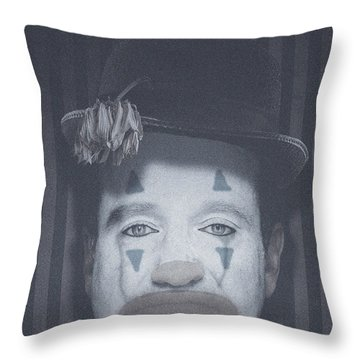 The Mask Of Comedy Throw Pillow