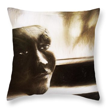 The Mask Sketch Throw Pillow