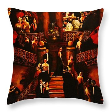Masquerade Ball Throw Pillow
