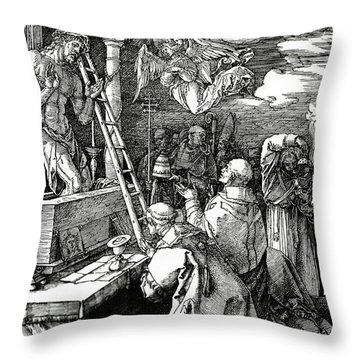 The Mass Of St. Gregory Throw Pillow by Albrecht Duerer