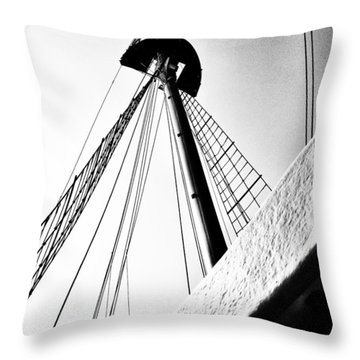The Mast Of The Peacemaker Throw Pillow