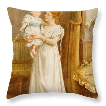 The Master Of The House Throw Pillow by George Goodwin Kilburne