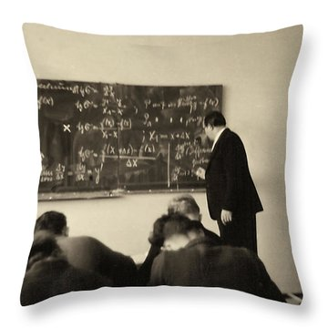 Year 1956 The Math Teacher  Throw Pillow