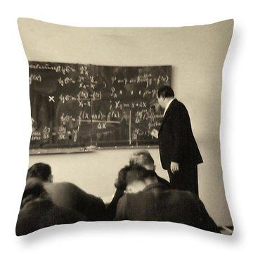 Year 1956 The Math Teacher  Throw Pillow