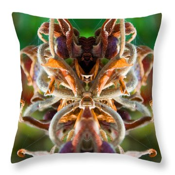 Throw Pillow featuring the photograph The Mating by WB Johnston