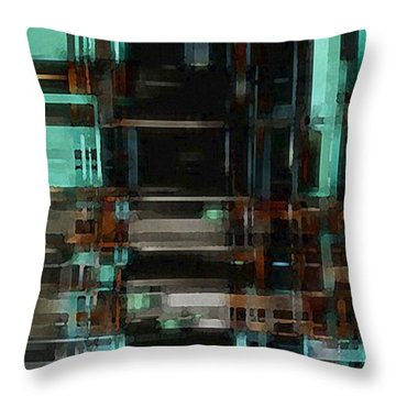 The Matrix 3 Throw Pillow by David Hansen