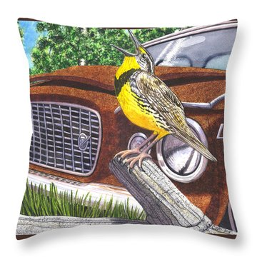 The Meadowlarks Throw Pillow