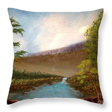 The Meadows Throw Pillow by Tim Townsend