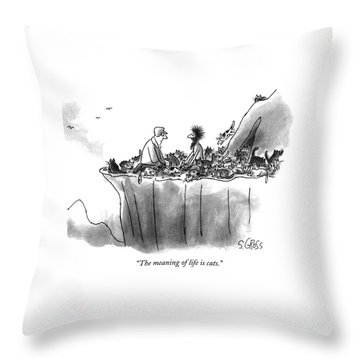 The Meaning Of Life Is Cats Throw Pillow
