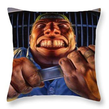 The Mechanic Throw Pillow