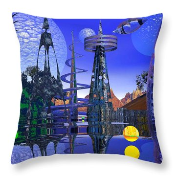 Throw Pillow featuring the photograph The Mechanical Wonder by Mark Blauhoefer