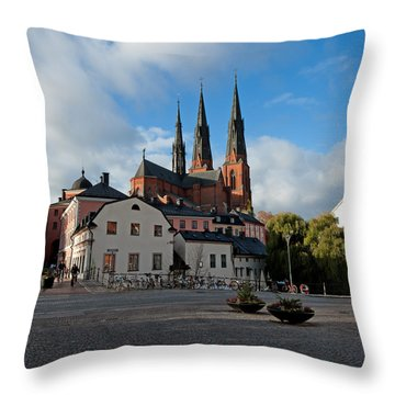 The Medieval Uppsala Throw Pillow by Torbjorn Swenelius
