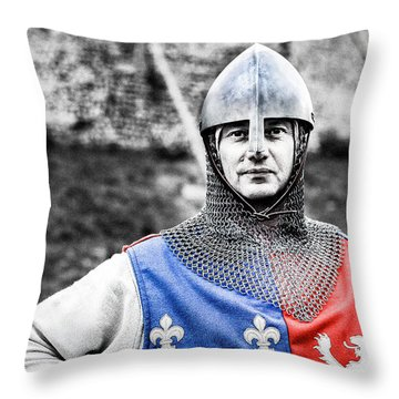 Throw Pillow featuring the photograph The Medieval Warrior by Stwayne Keubrick