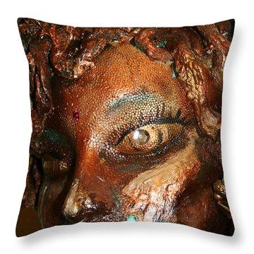The Medusa Snare  Throw Pillow by Avonelle Kelsey