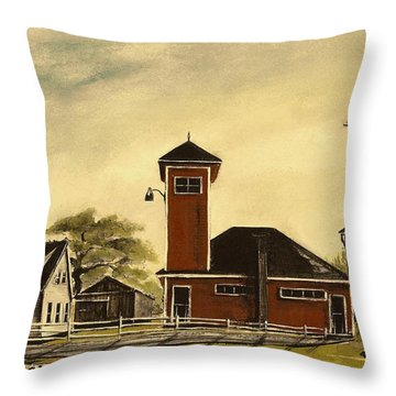 The Meeting House Throw Pillow