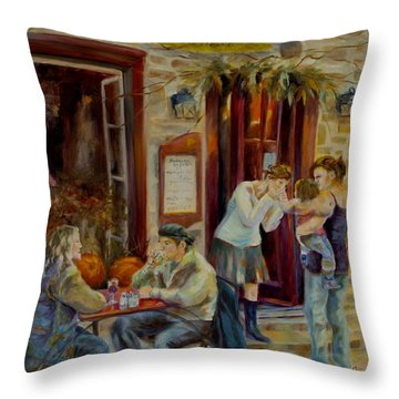 The Meeting Place Throw Pillow by Chris Brandley