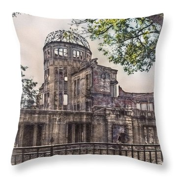 Throw Pillow featuring the photograph The Memorial by Hanny Heim