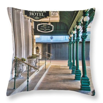 The Menger Hotel In San Antonio Throw Pillow