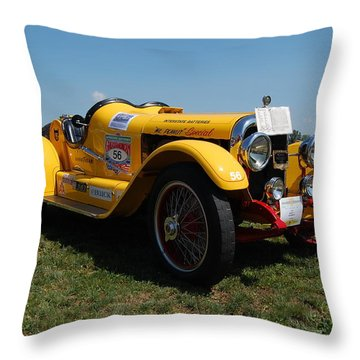 The Mercer Raceabout Roadster Throw Pillow by Mustafa Abdullah