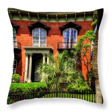 The Mercer Williams House Throw Pillow