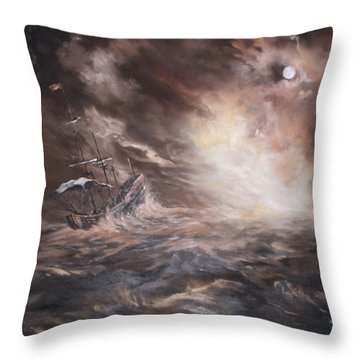 Throw Pillow featuring the painting The Merchant Royal by Jean Walker