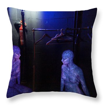 The Mermaids Dresser Throw Pillow