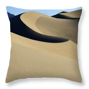 The Mesquite Dunes Of California Throw Pillow by Bob Christopher