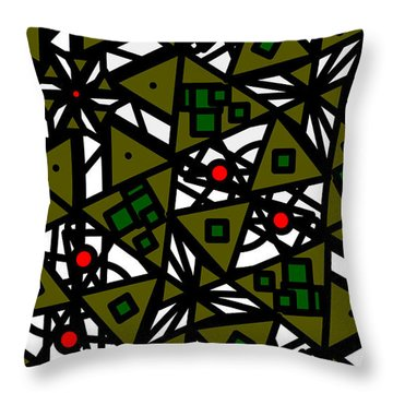 Throw Pillow featuring the digital art The Mess Behind It by Elizabeth McTaggart