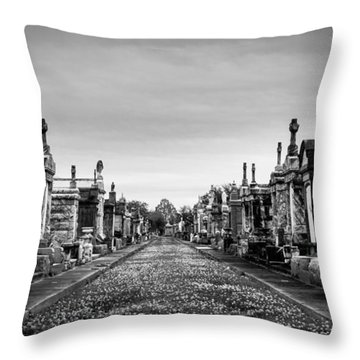 The Metairie Cemetery Throw Pillow