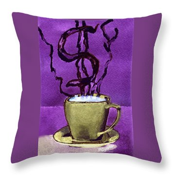 Throw Pillow featuring the painting The Midas Cup by Paula Ayers