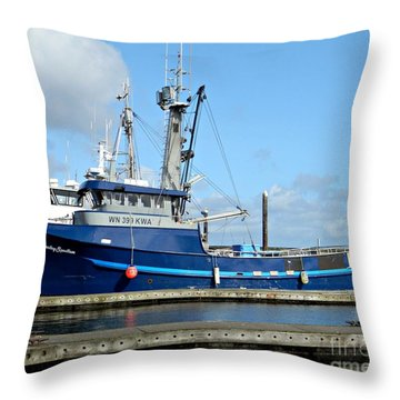 The Mighty Blue Throw Pillow by Chalet Roome-Rigdon