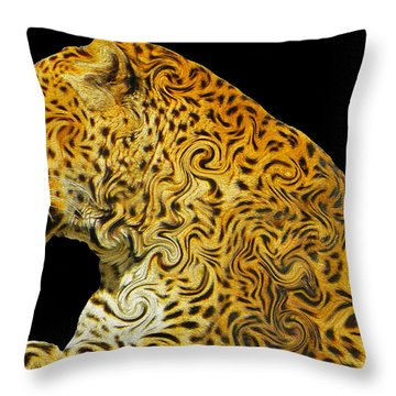 The Mighty Panthera Pardus Throw Pillow