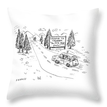 The Mile High State Throw Pillow