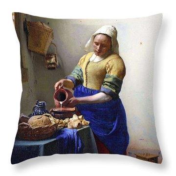 Johannes Vermeer Throw Pillows