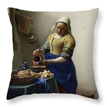 The Milkmaid Throw Pillow