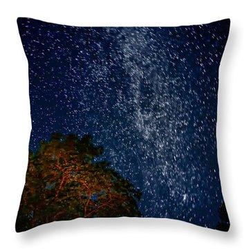 The Milky Way 2 Throw Pillow by Steve Harrington