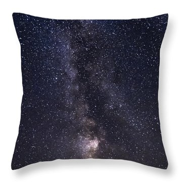 The Milky Way From Phippsburg Maine Usa Throw Pillow