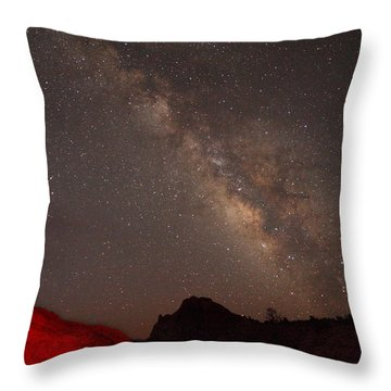 The Milky Way Over Mesa Arch Throw Pillow by Alan Vance Ley
