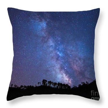 The Milky Way Over The Mountain Throw Pillow