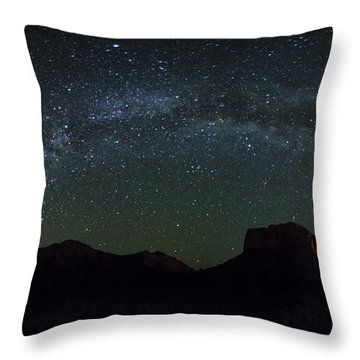The Milky Way Throw Pillow by Tom Kelly