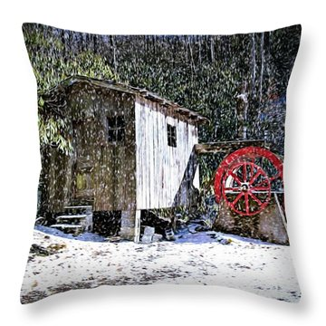 The Mill Throw Pillow by Bill Howard