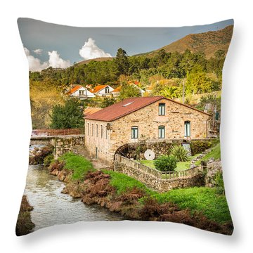 The Mill By The River Throw Pillow