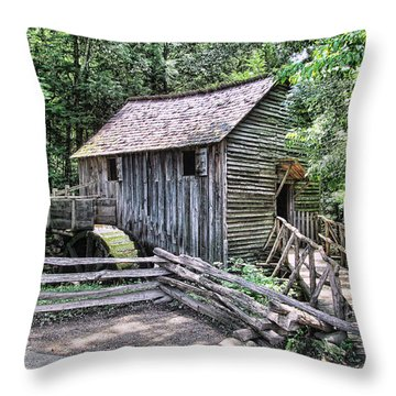 The Mill Throw Pillow by Victor Montgomery