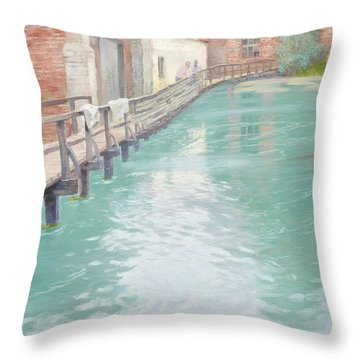 The Mills At Montreuil Sur Mer Normandy Throw Pillow by Fritz Thaulow