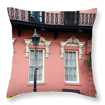 The Mills House Throw Pillow by John Rizzuto