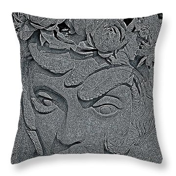 The Mind Of Medusa  Throw Pillow by Chris Berry