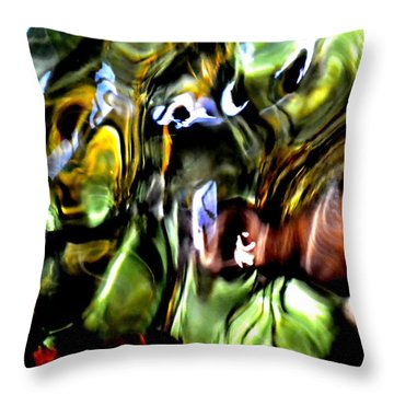 Throw Pillow featuring the photograph The Mind's Eye  by Deena Stoddard