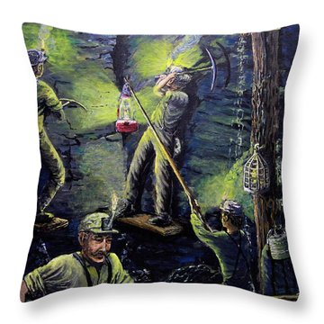 The Miners Way Throw Pillow