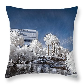 The Mirage In Infrared 1 Throw Pillow